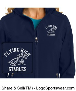 FHS Ladies Core Soft Shell Jacket Design Zoom